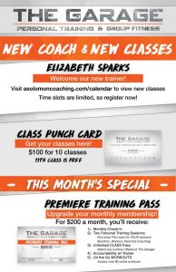 New Classes At The Garage